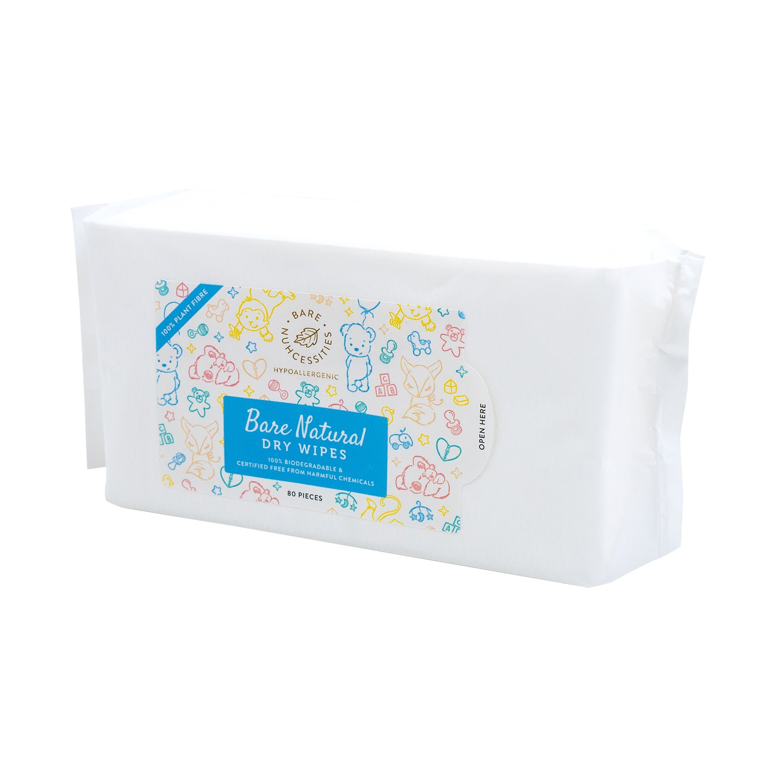 Bare Natural Dry Baby Wipes