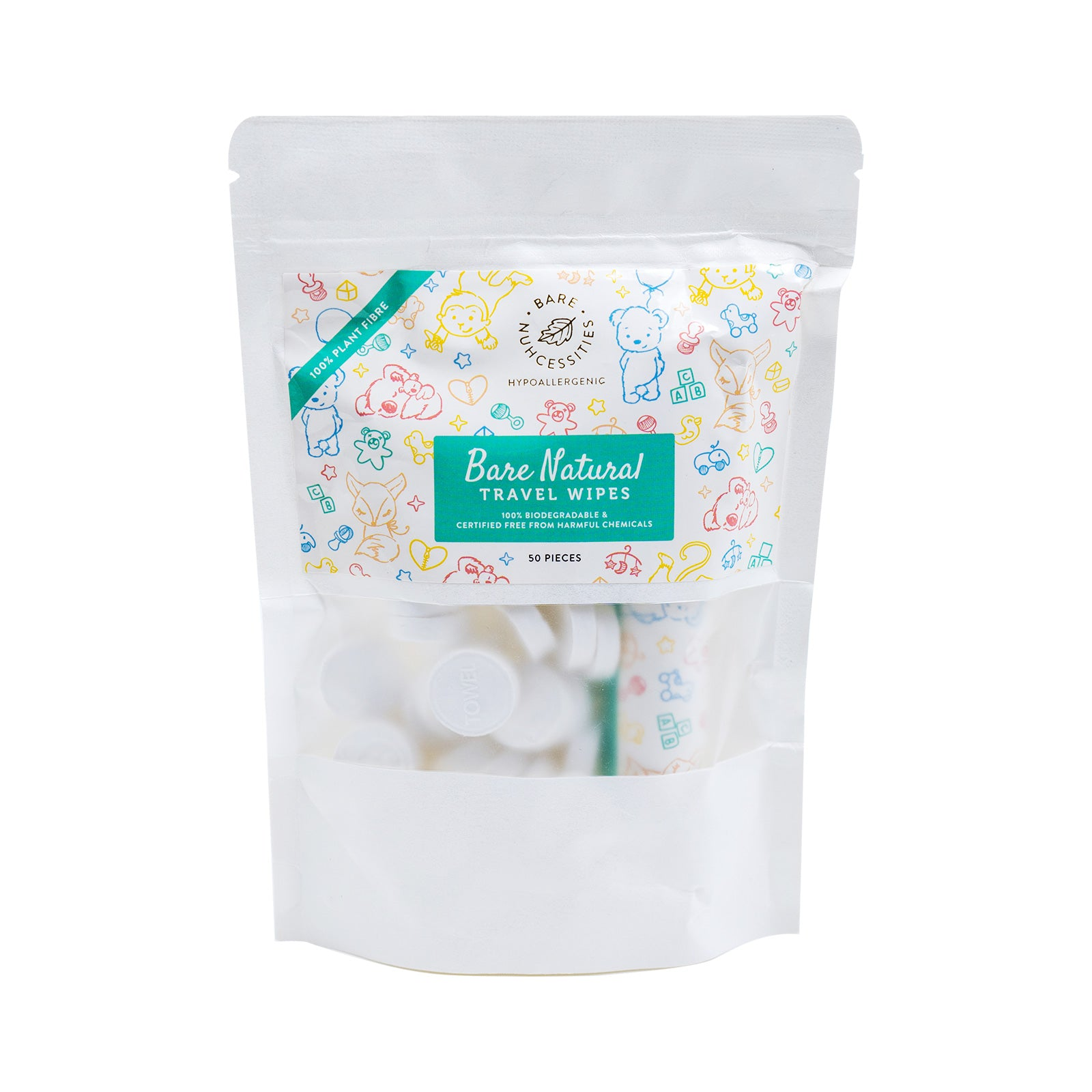 Bare Natural Travel Wipes