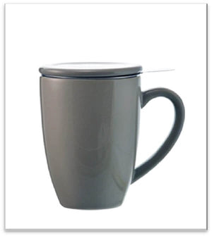Grey Kassel Ceramic Infuser Mug