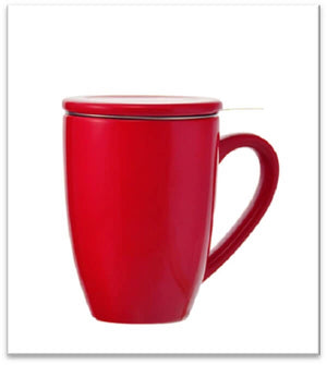 Red Kassel Ceramic Infuser Mug