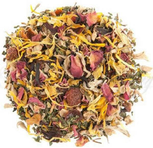 mashup teas total body ayurvedic loose leaf tea with spearmint peppermint rose petals ginger and hibiscus