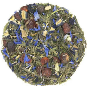 mashup teas colour changing sencha tea with blue butterfly pea flower