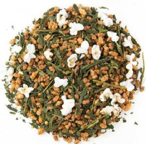 mashup teas japanese genmaicha loose leaf tea with popped rice