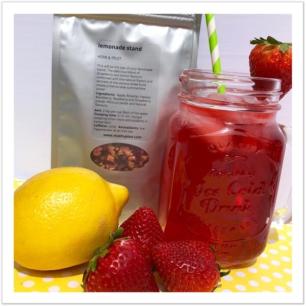 mashup teas strawberry lemonade herb and fruit iced tea blend