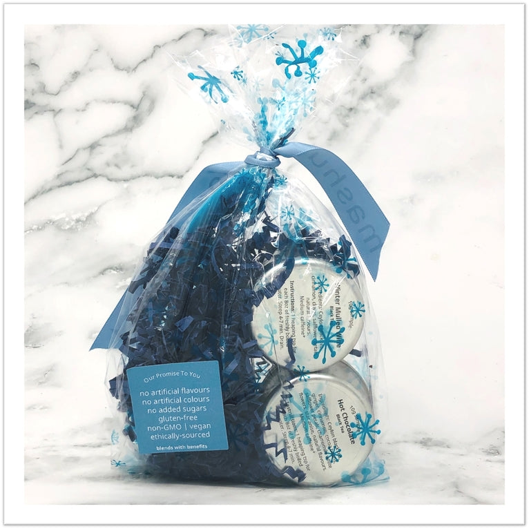Holiday Two-pack Tea Tin with Blue Leaf Infuser
