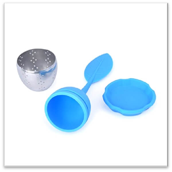 mashup teas blue silicone tea infuser with stainless steel base