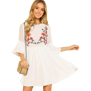 Sierra Ruffle Smock Dress