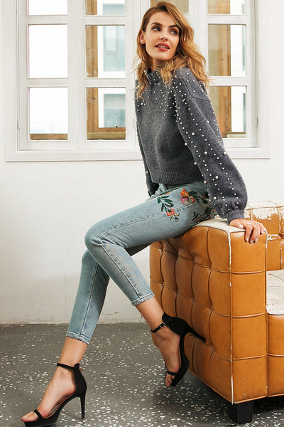 Venice Floral Embroidered Jeans
