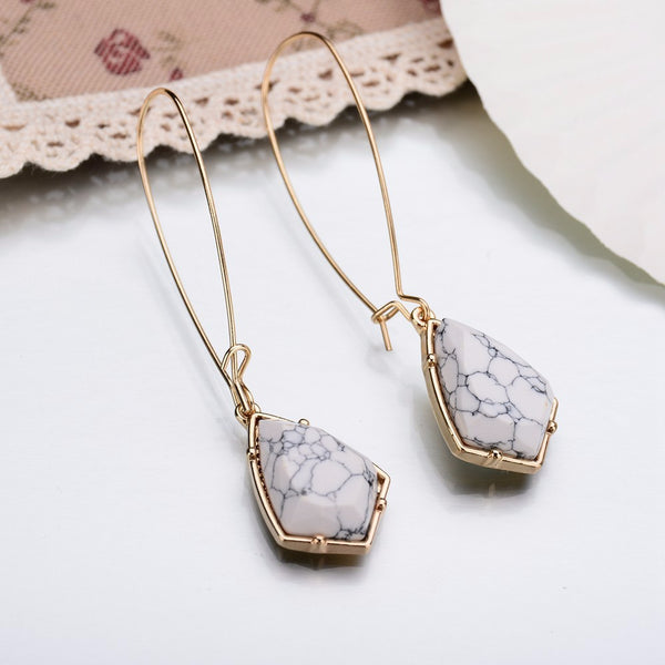Geometric Faux Marble Earrings