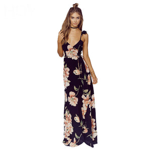 Sunday Brunch Floral Maxi