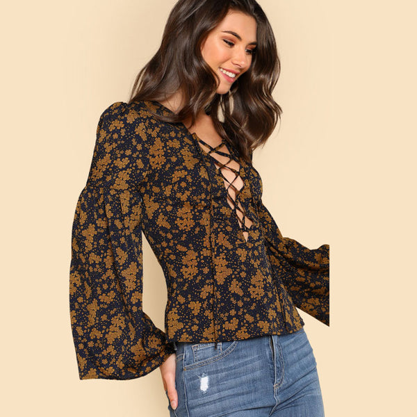 Nashville Lace Up Blouse