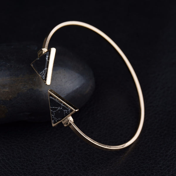 Geometric Open Cuff Bangle