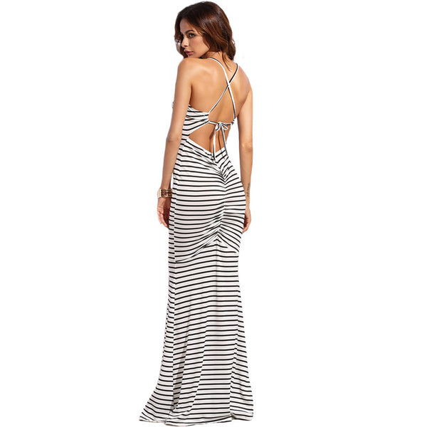 Madison Backless Maxi Dress