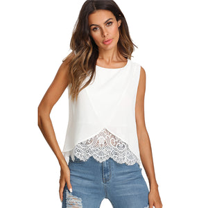 Crossover Lace Blouse