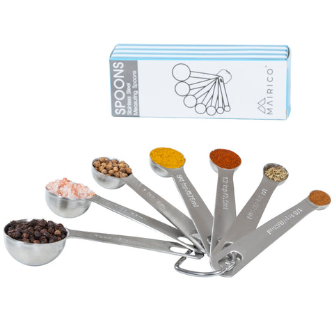Image of MAIRICO Premium Stainless Steel Round Measuring Spoons
