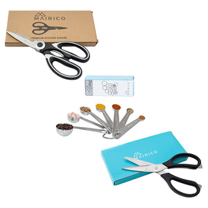 MAIRICO Value Holiday Gift Set (3 items): Premium Shears and Measuring Spoons Combo