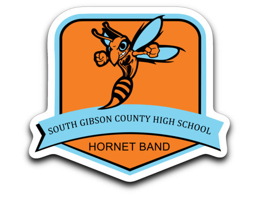 South Gibson County Hornet Band Sticker - Marching Band Gear