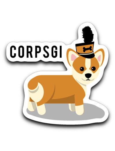 Drum Corps Doggo Corpsgi Sticker - Marching Band Gear