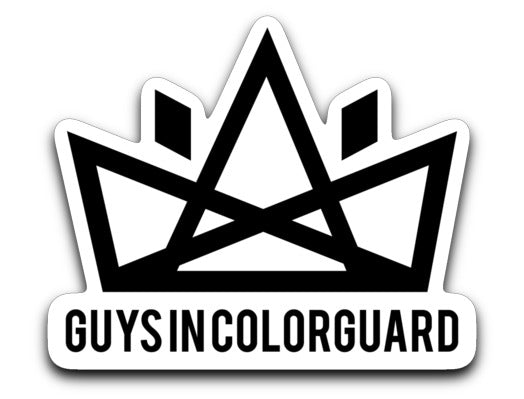 Guys In Colorguard Sticker - Marching Band Gear