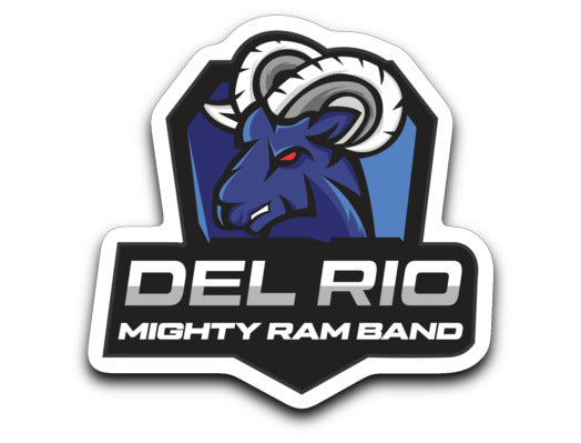 Del Rio Mighty Ram Band Sticker - Marching Band Gear
