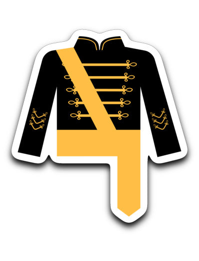 Serra High School Marching Band Uniform Sticker - Marching Band Gear