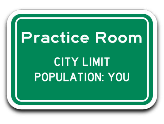 Practice Room City Limit Sticker - Marching Band Gear