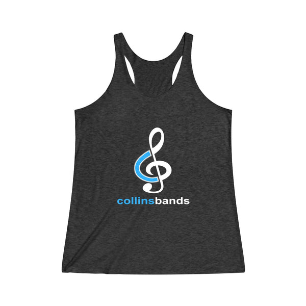 Women's Collins Bands Triblend Racerback Tank Top - Marching Band Gear