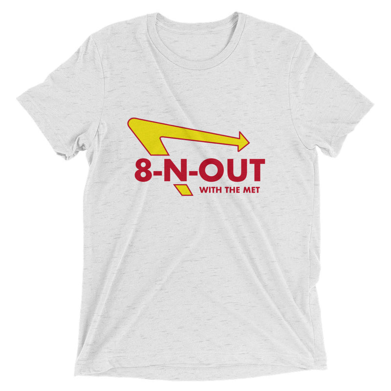 8-N-Out With The Met Premium Triblend T-Shirt - Marching Band Gear