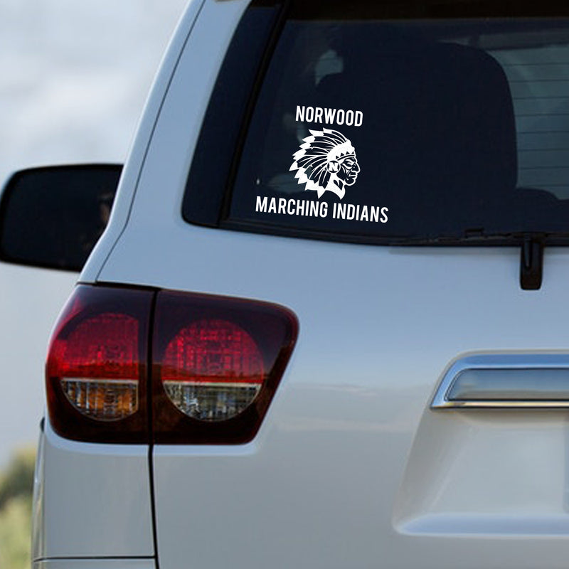 Norwood Marching Indians Decal - Marching Band Gear