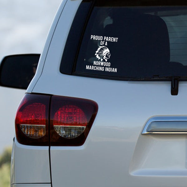 Norwood Marching Indians Parent Decal