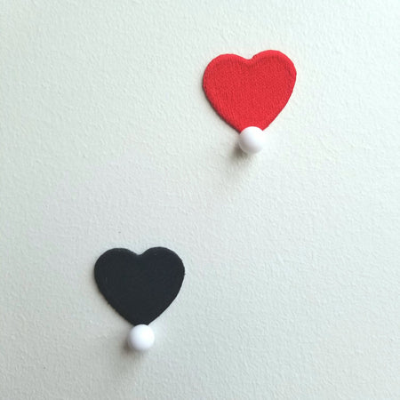 Mini Red or black Heart Patch