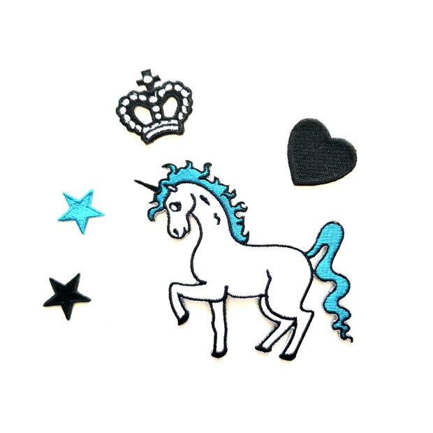 Unicorn Lovers Patches for Jacket (Set of 5) ( Blue or pink )