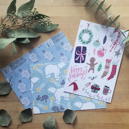 Set of 6 holiday postcards 4X6