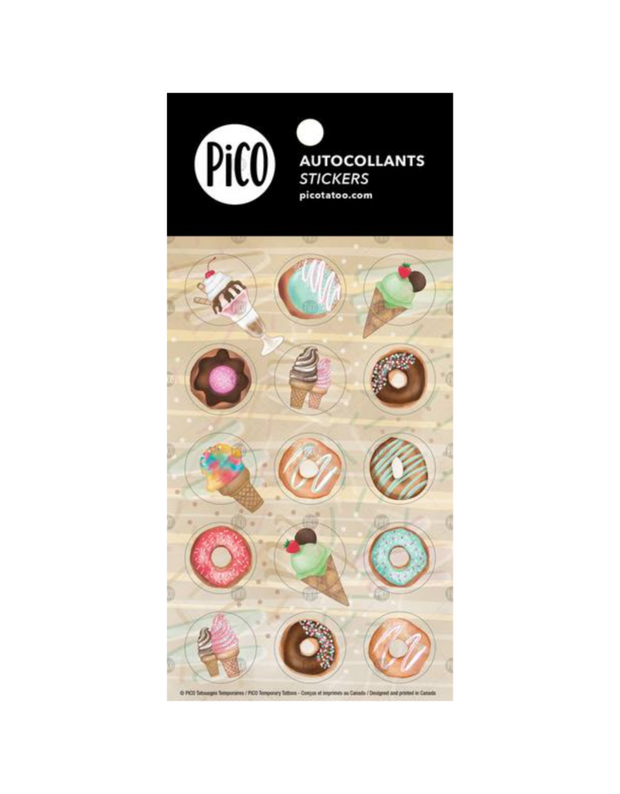 Stickers - Ice cream cones and donuts