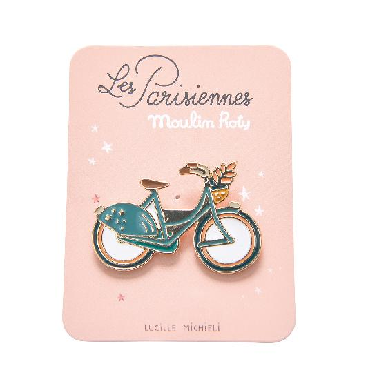 Parisiennes - Bike Enamel Pin - Moulin Roty