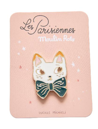 Parisiennes - Cat Enamel Pin - Moulin Roty