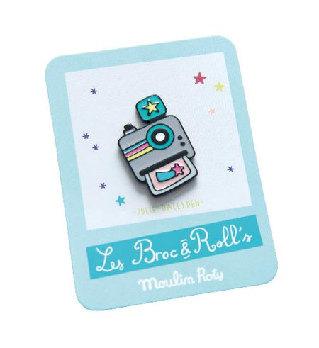 Broc' & Rolls - Camera Enamel Pin - Moulin Roty