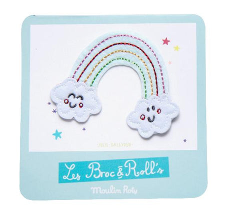 Broc' & Rolls - Rainbow Embroidered Patch - Moulin Roty