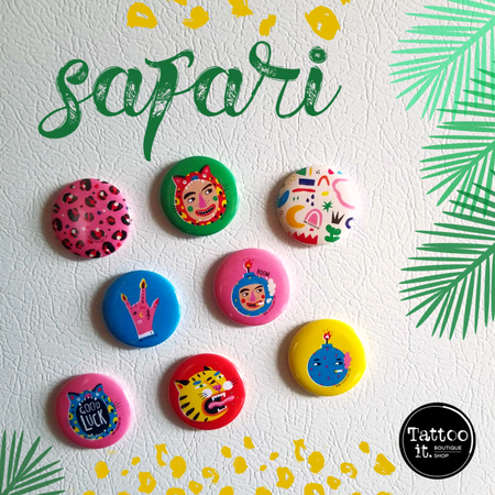 Button badge - 1,5'' - Safari & Rock N roll