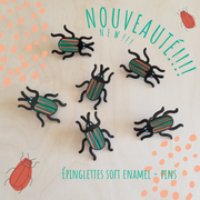 Beetle soft Enamel Pin