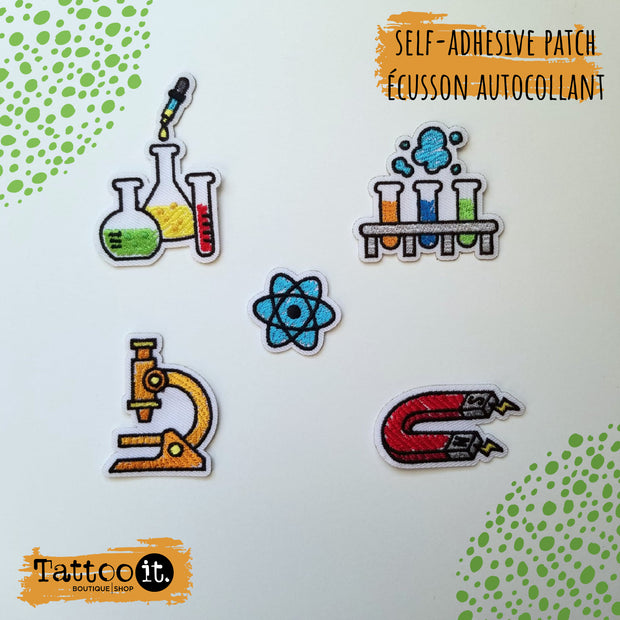 Science - self-adhesive patch ( set of 5 )