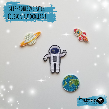 Let's go to space! - self-adhesive patch ( set of 4 )