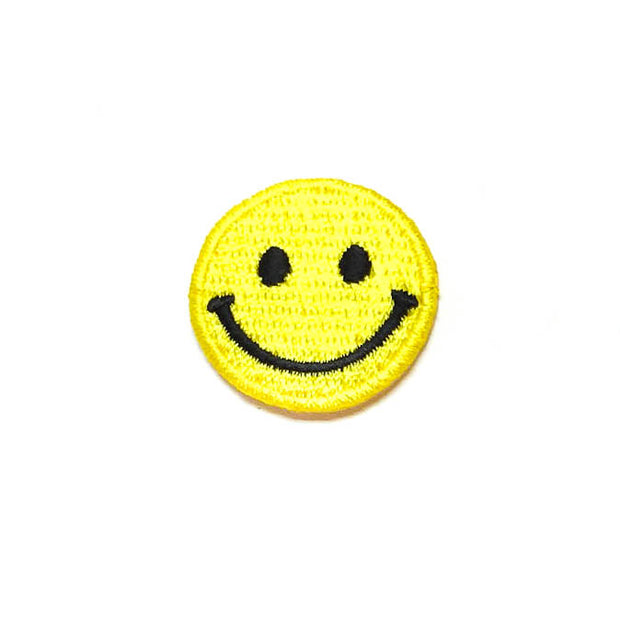 Smiley iron-on patch