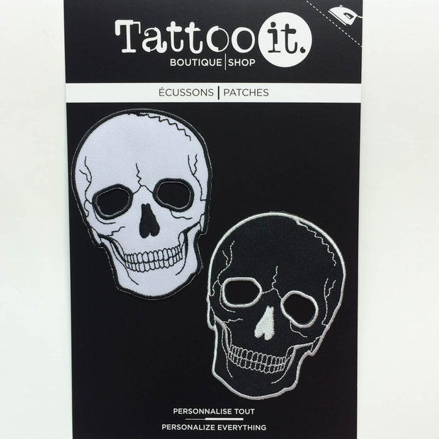 No Eyes Skull Patches (Set of 2) – Tattoo it - Patches & Pins