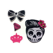 Rockabilly Bow Patch - Black or Red