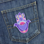iron-on patch on jeans