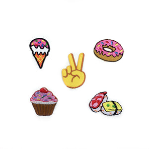 Mini Foodie Patches (Set of 5)