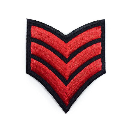 Red Military Badge Patch