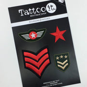 Military Patches (Set of 4)