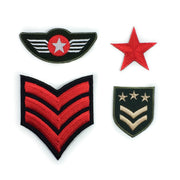 Military iron-on patches